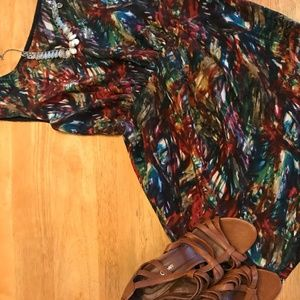Theory  Multicolor Silk Dress